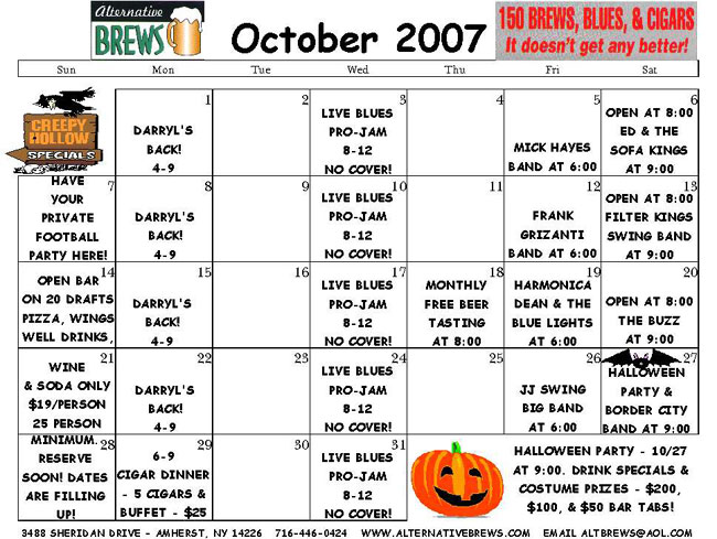 ... Best of WNY Band, Music and Entertainment Event News: September 2007